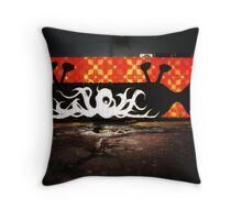 Nottingham Graffiti Throw Pillow