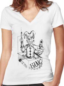 Jack the Gunslinger Women's Fitted V-Neck T-Shirt