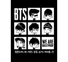 BTS WE ARE BULLETPROOF Chibi Photographic Print