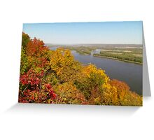 Autumn On The Mississippi Greeting Card