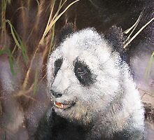 Panda Bear by JeffeeArt4u