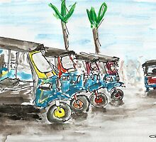 Tuk Tuks of Bangkok by joelwilluk