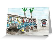 Tuk Tuks of Bangkok Greeting Card