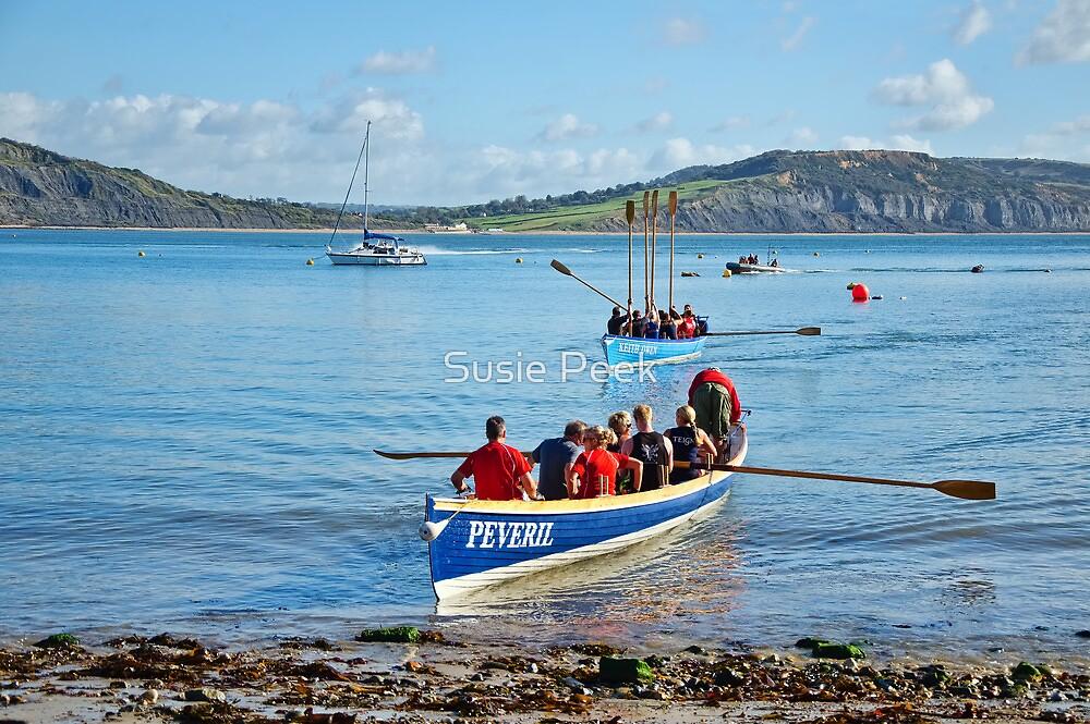 Gig Races 2 ~ Lyme Regis Regatta by Susie Peek