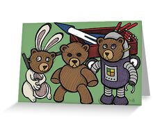 Teddy Bear And Bunny - Spies Among Us Greeting Card