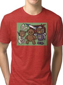 Teddy Bear And Bunny - Spies Among Us Tri-blend T-Shirt