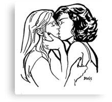 """Emma & Regina """"Kiss Me"""" Canvas Print"""