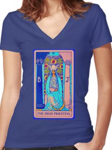 the technicolor high priestess Women's Fitted V-Neck T-Shirt