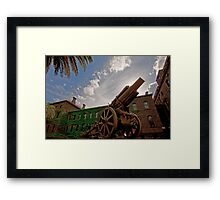 WWII Canon  Framed Print