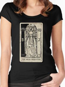the monochromatic high priestess Women's Fitted Scoop T-Shirt