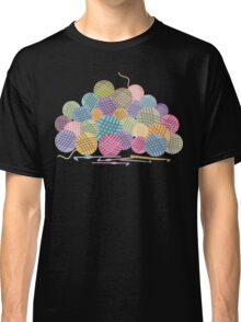 colorful crochet hooks balls of yarn Classic T-Shirt