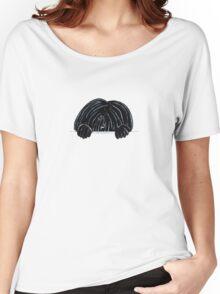Peeking Black Puli Women's Relaxed Fit T-Shirt
