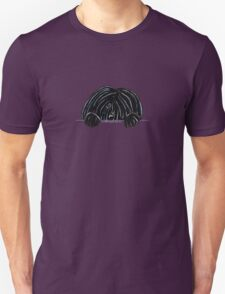 Peeking Black Puli Unisex T-Shirt