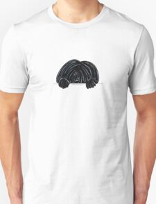 Peeking Black Puli Unisex T-Shirt