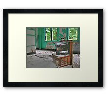 Upturned Desk Framed Print
