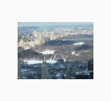 Central Park in Snow, Aerial View from Top of the Rock Observation Deck, New York Unisex T-Shirt
