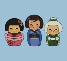 Kokeshis (Japanese dolls) Kids Clothes