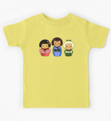 Kokeshis (Japanese dolls) Kids Tee