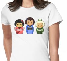 Kokeshis (Japanese dolls) Womens Fitted T-Shirt