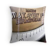 Old Heavy-duty Weighing Scales ...(Car,bike,truck scales) Throw Pillow