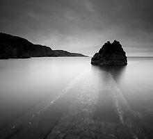 Lightroom Black and White Conversion, The Big Stopper, Pettico Wick, St Abbs Head, Scottish Borders by Iain MacLean