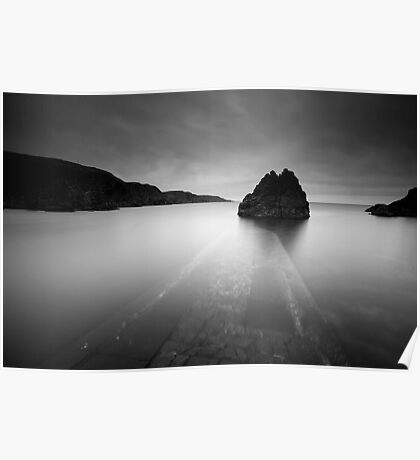 Lightroom Black and White Conversion, The Big Stopper, Pettico Wick, St Abbs Head, Scottish Borders Poster