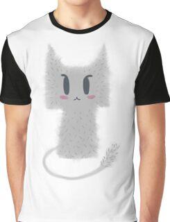 Gray Kitty Graphic T-Shirt