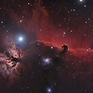 The Horse & Flame Nebula by astrochuck