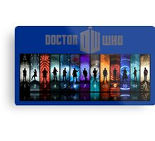 The Doctor Through Time Metal Print