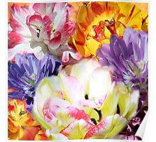Bouquet of tulps Poster
