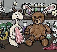 Teddy Bear and Bunny - Lab Experiments 2 by Brett Gilbert
