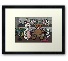 Teddy Bear and Bunny - Lab Experiments 2 Framed Print