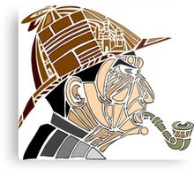 Stained-glass Sherlock Metal Print