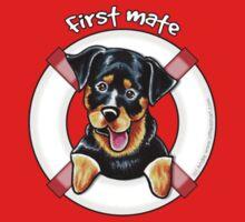 Rottweiler :: First Mate {Pocket} One Piece - Long Sleeve