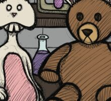 Teddy Bear and Bunny - Lab Experiments 2 Sticker