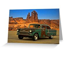 "1955 Chevrolet ""Road Trip"" Greeting Card"