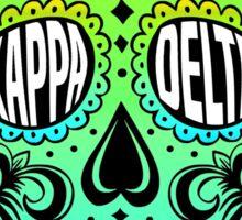 Kappa Delta Sugar Skull Sticker