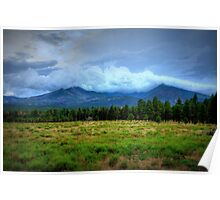 Clouds Over The Meadow Poster