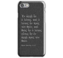 John 1:1 White on Gray iPhone Case/Skin