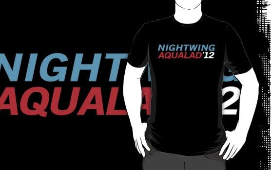 Nightwing Aqualad 2012 by Caroline Kilgore