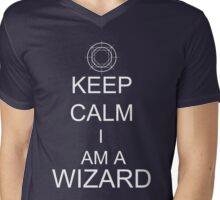 Keep Calm I am a Wizard Mens V-Neck T-Shirt