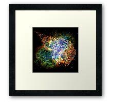 Space Gun Explosion Framed Print