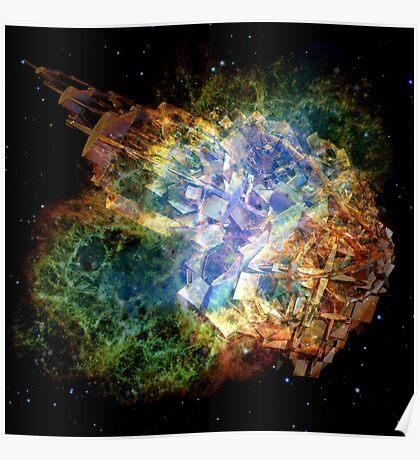 Space Gun Explosion Poster