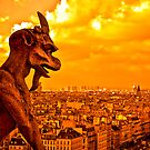 Guardians of Paris - A Gargoyle on the Skyline by Mark Tisdale