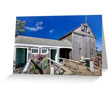Sesuit Harbor outhouse barn Greeting Card