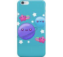 Kawaii earth moon and stars iPhone Case/Skin