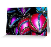 Christmas shapes & patterns Greeting Card