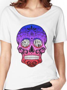 Sigma Kappa Sugar Skull Women's Relaxed Fit T-Shirt
