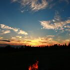 Fire in a Sunset by Adam Kuehl