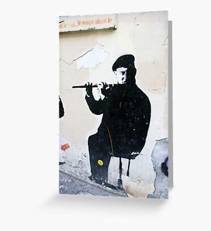 Graffiti Musician Greeting Card